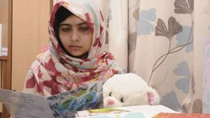 Pakistani schoolgirl Malala Yousafzai received get well soon cards from the public during her recovery at a British hospital, where it is reported she is making progress in her recovery.