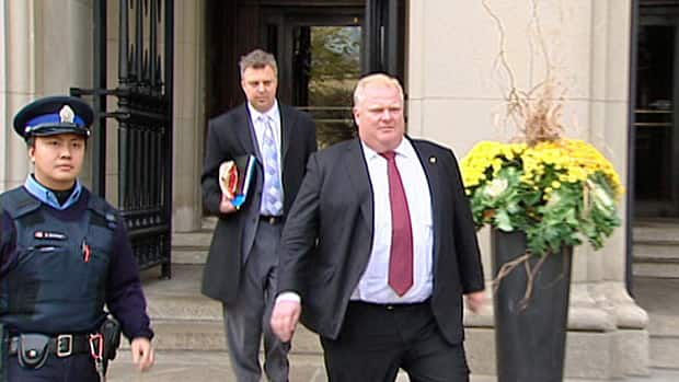 Toronto Mayor Rob Ford is seen outside court on Monday, Nov. 19, 2012.