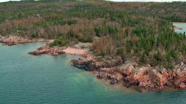 Hundreds of hectares of land along Lake Superior — the world's largest freshwater lake — are for sale near Terrace Bay.