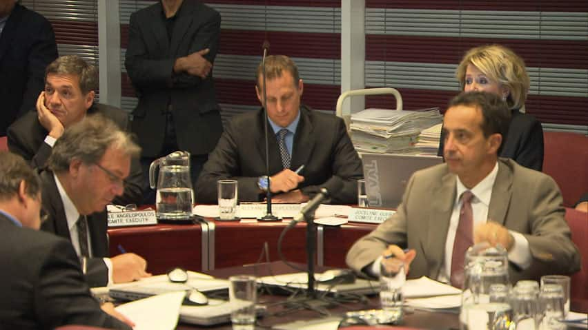 Members of Laval's city council were questioned by anti-corruption investigators weeks after former Laval mayor Gilles Vaillancourt announced his resignation.
