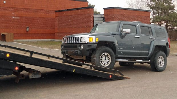 Thunder Bay police seized this Hummer in 2010 as property related to criminal activity.
