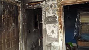 The family narrowly escaped the Dec. 4 fire.