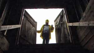 A worker enters a Canadian coal mine.