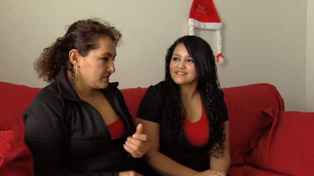 Maria Yolanda Alvarez-Rivera (left) and her daughter Mercedes Martinez-Alvarez will spend Christmas together for the first time in seven years. After death threats, Maria fled El Salvador, obtained refugee status here, but is still trying to get her fourth child out of that country.