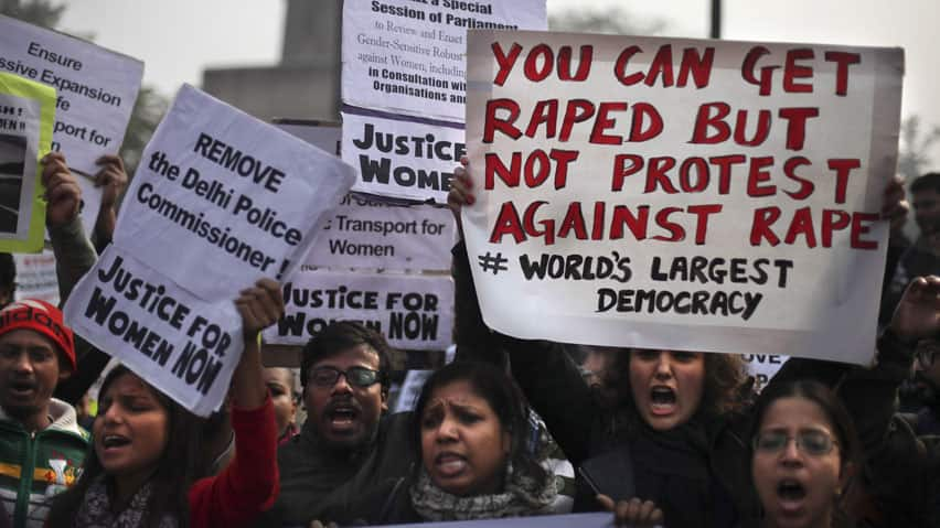 Women and men are standing up to rape and sexism in India
