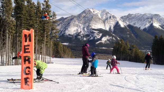 Many have headed out to local ski hills this holiday season, including families like this at Nakiska.