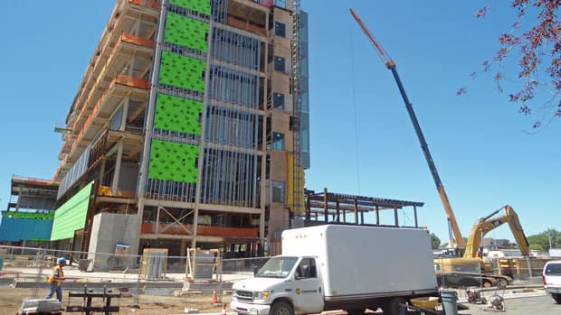 Construction of Thunder Bay's courthouse has helped boost the city's economy.