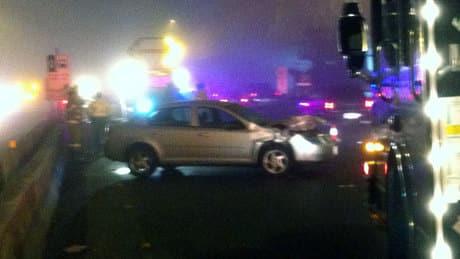 Multi-car accidents back up new Port Mann Bridge