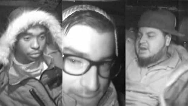 Ottawa police are looking for these three men who are suspected of robbing a taxi cab driver at knifepoint on Dec. 29.