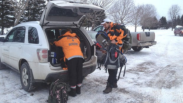 Search and rescue crew arrived Thursday morning to resume the search for Justin Hunter near Kinkora.