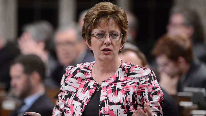 Minister of Human Resources Diane Finley says EI claimants will be able to sign up for a