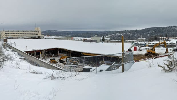 The Algo Centre Mall in Elliot Lake is currently undergoing demolition. An inquiry into the collapse of the mall's roof, which killed two people, and the rescue efforts surrounding the tragedy began March 4.