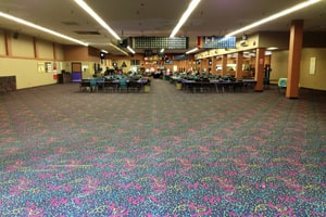 Bingo doesn't take up so much space anymore on the main floor of the old Kresge store.