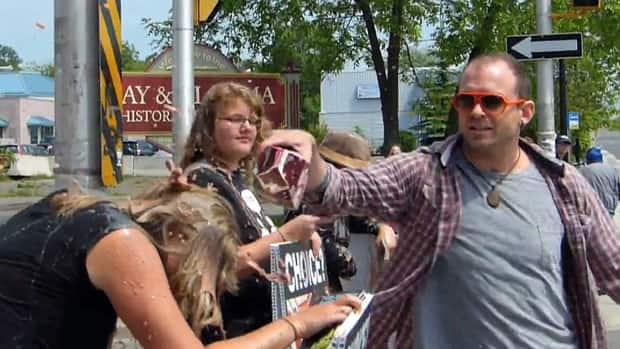 Brian Hamilton of Thunder Bay says pouring chocolate milk on anti-abortion protestors was his own way of protesting.