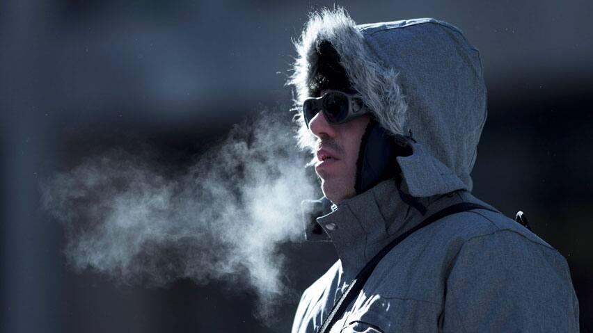 Breath in winterCold Breath In Winter