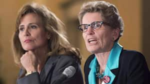 Sandra Pupatello (left) and Kathleen Wynne (right) are perceived to be the two front-runners in the Ontario Liberal leadership contest.