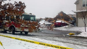 Four people were sent to hospital after a house exploded in Kitchener, Ont., late Sunday.