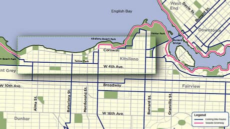 Point Grey Road bike route favoured by Vancouver city hall