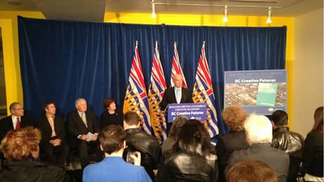 B.C. Liberals announce $6.25 M to support 'creative minds'