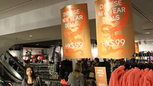 H & M is one of many stores offering Chinese New Year sales this week, a busy shopping week before the holiday begins Sunday.