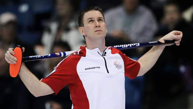 Brad Gushue is seen at the Brier in 2012.