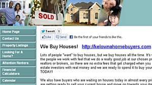 Kelowna Home Deals promises sellers and buyers they can put a deal together without paying fees to realtors or brokers.