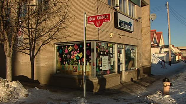 Culprits stole electronics and damaged artwork Friday in the iHuman Youth Society building in downtown Edmonton.
