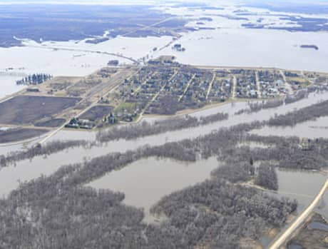 Farmland around Emerson, Man., was swamped during the flooding of 2011.