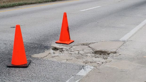 Toronto spends about $4 million reparing more than 200,000 potholes a year.