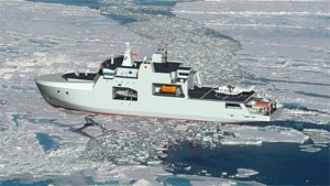 An illustration from the Department of National Defence, from 2009, of what an Arctic offshore patrol ship could look like.