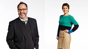 Craig Norris, left, will host Waterloo Region's Morning Edition radio show as digital host Andrea Bellemare leads an online chat.