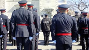 All 15 members of the Kativik Regional Police Service attended the funeral for their fallen colleague.