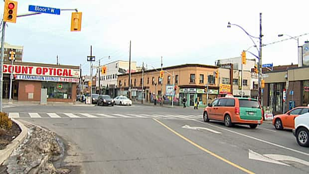 A cyclist was struck near the intersection of Bloor Street and Lansdowne Avenue in the early hours of Sunday morning.