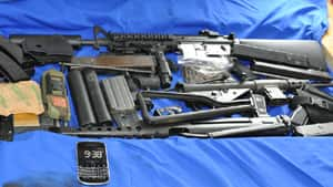Police found the cache of weapons hidden in the walls of a Bancroft, Ont., home.