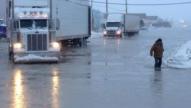 A massive lake opened up early Friday morning at the corner of 46th Street and Faithfull Avenue.