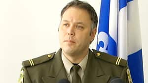 Provincial police Sgt. Benoît Richard thanked members of the public for their help in locating the fugitives.