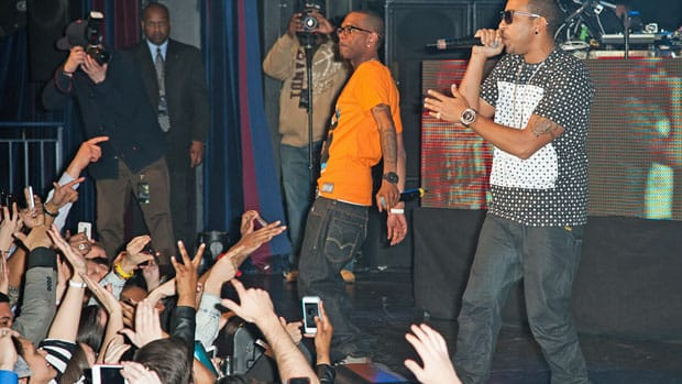 Ludacris performs at the BlackBerry Z10 launch event in New York's theatre district Thursday.