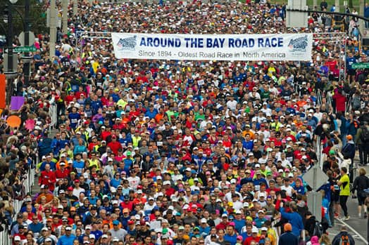 The Around the Bay 30K road race.