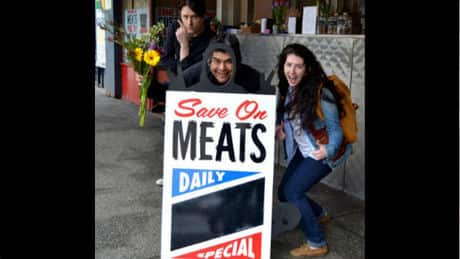 Save on Meats gets new sign, starts food campaign