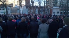 Hundreds of people gathered in Halifax's Victoria Park.