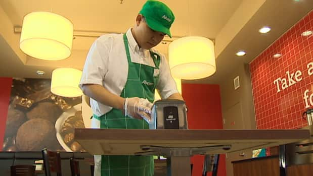 Tyler Seto has started his job at Sobeys to help with the transition before he graduates.