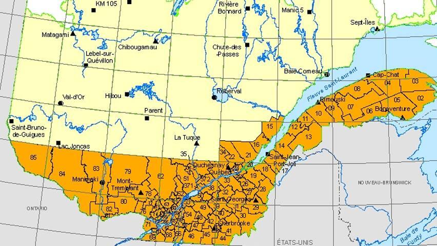 Quebec Forest Fires Map