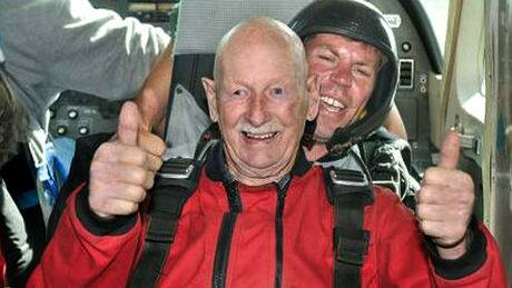 Kamloops man skydives for 90th birthday