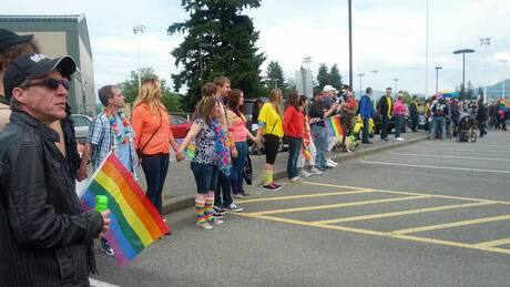 Hundreds come out for Abbotsford's first pride march