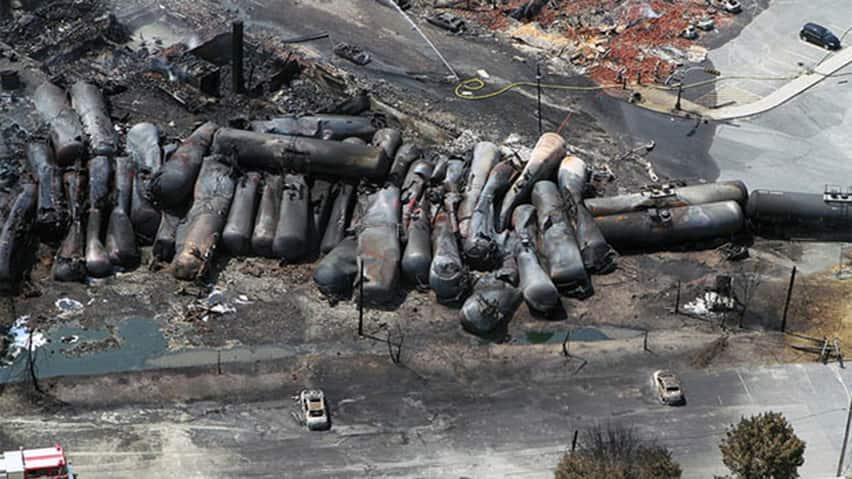 Последствия взрыва поезда в Канаде. Фото cbc.ca