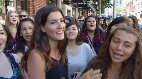 One Direction fans stake out downtown Vancouver hotel