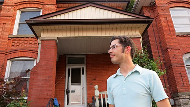 While housing booms have turned other cities into bedroom communities, statistics show that the number of Hamiltonians who work here - such as Kyle McKeown - is about the same as it was five years ago. (Samantha Craggs/CBC)