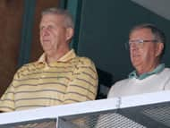 Parcells at the game Sunday