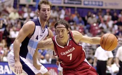 Canada's coach Leo Rautins hopes two-time NBA MVP Steve Nash (7) will play if the national team qualifies for the Olympics.
