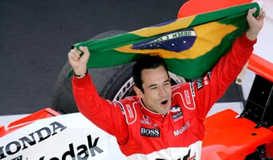 Helio Castroneves has the pole position for Sunday's Indy 500.